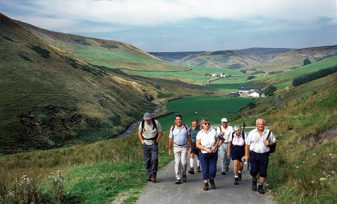 Walkers in the Forest of Bowland AONB