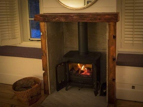 Cosy log burner at Castle View