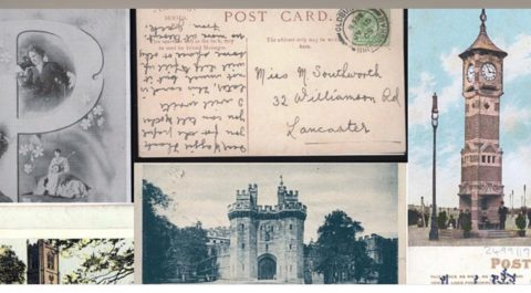 Early 20th century social media: writing postcards around Lancaster and Morecambe Bay